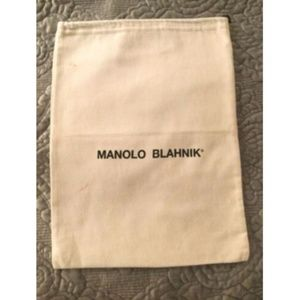 Authentic Manolo Blahnik Drawstring Dust Bag Cover